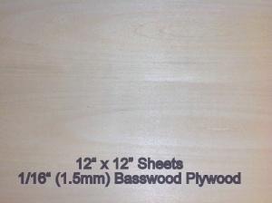 EZCut Basswood Plywood  1/16